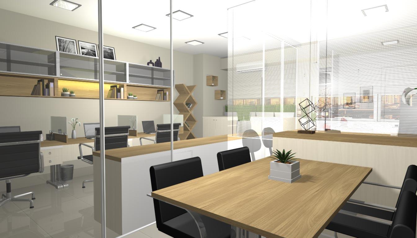 projeto sala comercial  u2013 fazzio arquitetura